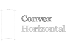 convex horizontal